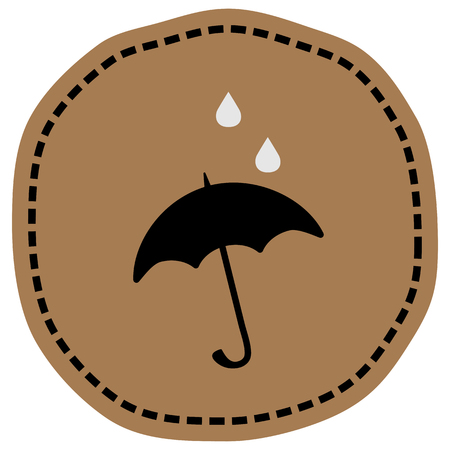 Umbrella sign icon vector illustration on beige background. Eps 10