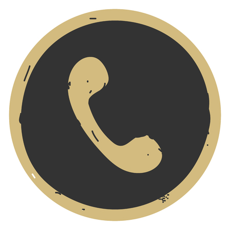 Phone button icon vector illustration sketch on gray background. Eps10