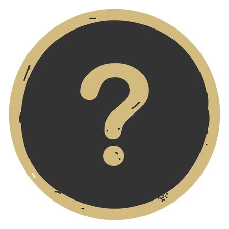 Question button icon vector illustration on gray background.Eps10 Ilustração