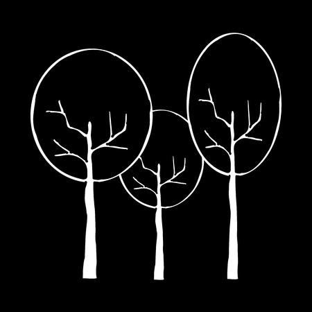 Tree icon vector illustration on black background. Eps10