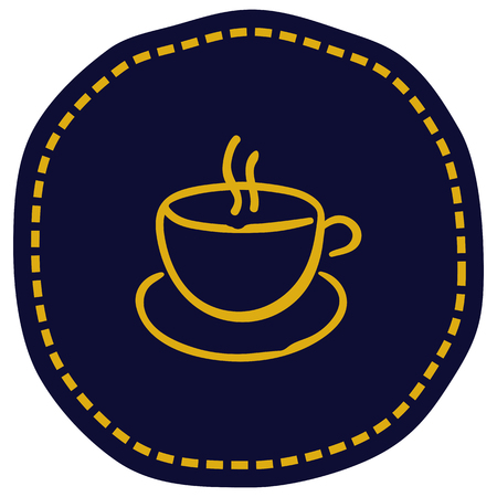 Cup icon vector illustration on blue background. Eps10