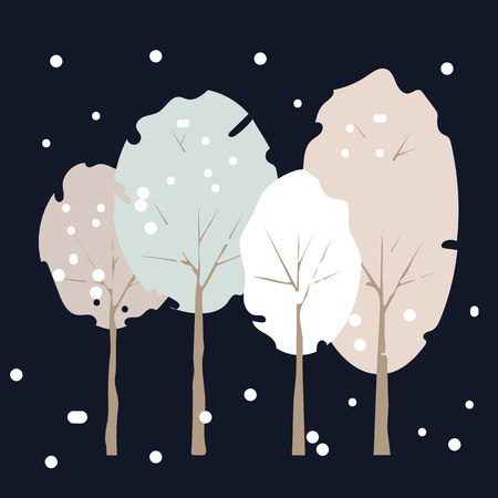 Tree icon vector illustration on dark background. Eps10 Ilustração