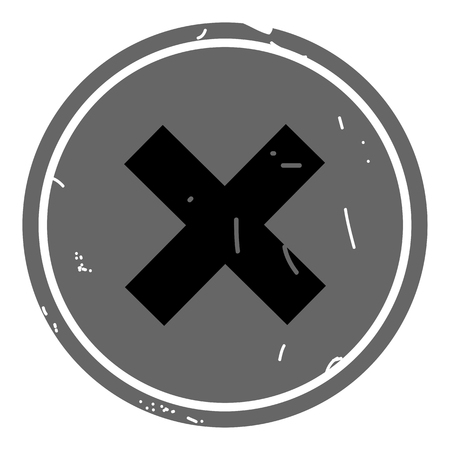 Check mark and cross icon vector illustration on white background