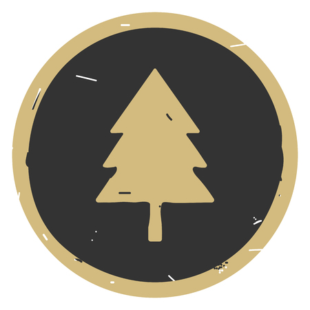 Tree icon vector illustration on gray background. Simple icon