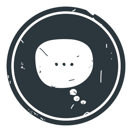 chat icon vector illustration dialog text on blue background. Eps10