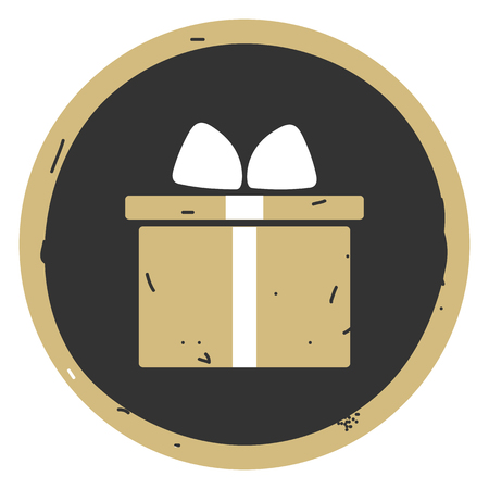Valentine gift box vector illustration on gray background. Eps10