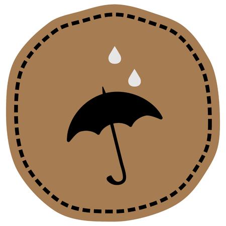 Umbrella sign icon vector illustration on beige background. Eps 10