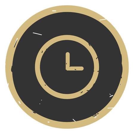 Clock icon vector illustration on dark background. Eps10