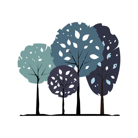 Tree icon vector illustration on white background. Eps10 Ilustração