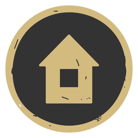House button icon vector illustration on gray background. Eps10 Ilustração