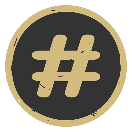 Hashtag sign icon vector illustration on gray background. Eps10