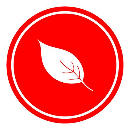 leaf vector illustration on red background. Eps10