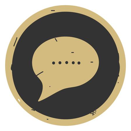 chat icon vector illustration dialog text on gray background. Eps10 Ilustração