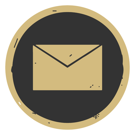 Simple envelope icon vector illustration on gray background. Eps10