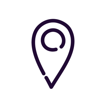 Simple location icon vector illustration on white background. Eps10