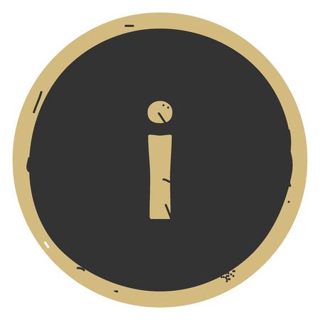 Info vector simple icon on whit gray backgrond. Eps10 Ilustração