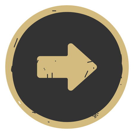 Arrow right button icon vector illustration on gray background. Eps10
