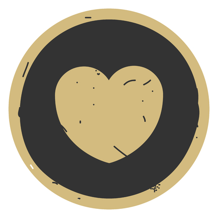 Heart icon. Vector illustration on gray background. Eps10