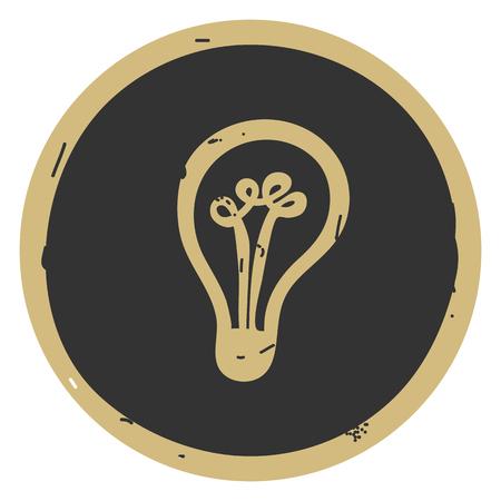 Vector illustration of light bulb Ilustração