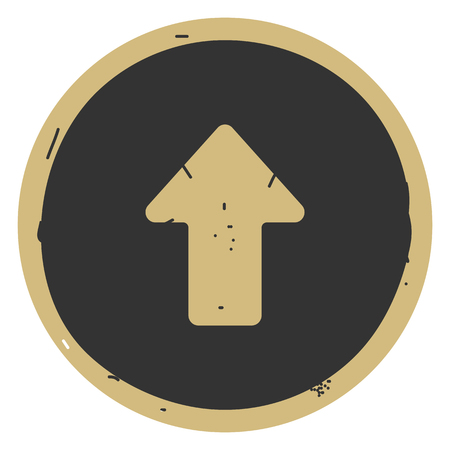 Arrow up icon vector illustration on gray background. Eps10