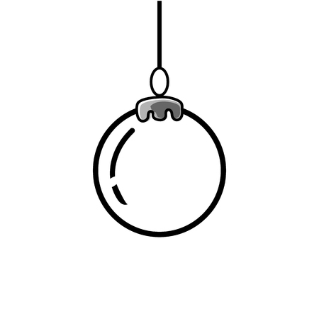 Christmas ball icon vector illustration Ilustração
