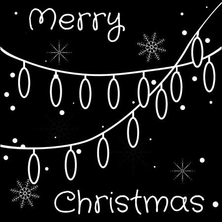 Christmas lights. Holiday garland with lights