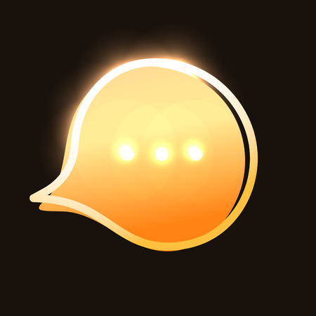 chat icon vector illustration dialog text on dark background. Eps10 Ilustração