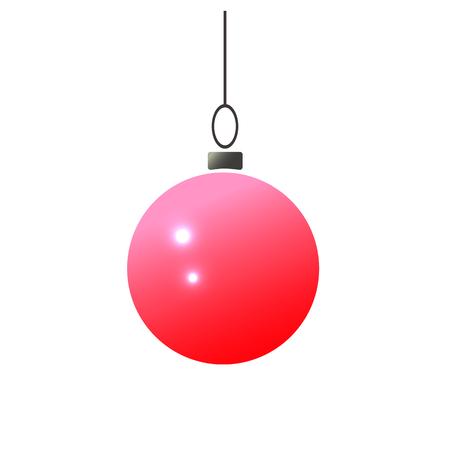 Christmas ball vector illustration. Eps10