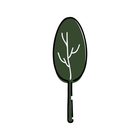 Tree icon illustration on white background