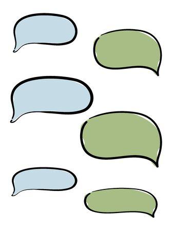 Chat message set bubbles collection. Banco de Imagens - 128749198