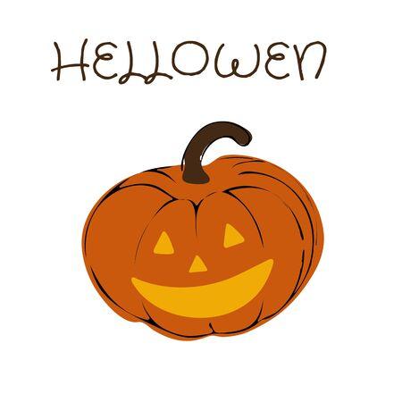 Pumpkin halloween icon on white background Vector illustration