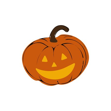 Pumpkin halloween icon on white background Vector illustration
