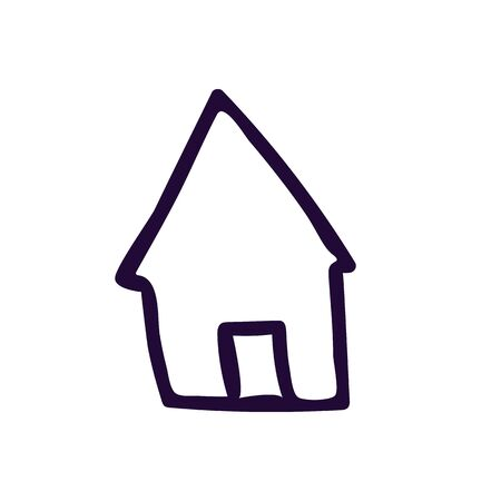 house button icon vector illustration on white background