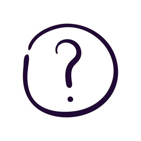 Question button icon vector illustration on white background