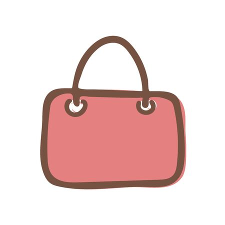 Shopping bag outline icon on white background Vector illustration