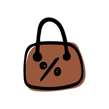 Shopping bag icon on white background Eps10