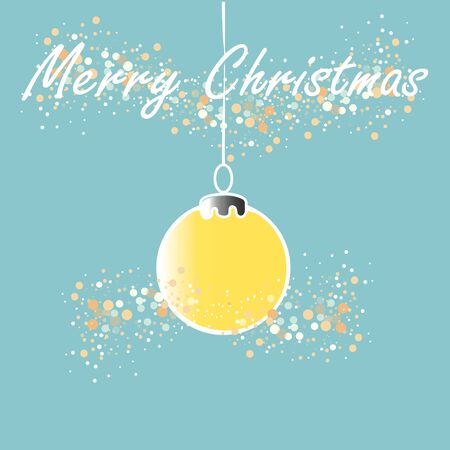 Christmas ball on blue background Vector illustration
