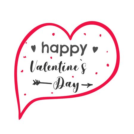 Valentines day speech bubble chat icon illustration