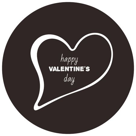 Valentines day speech bubble chat icon illustration 写真素材 - 136746796