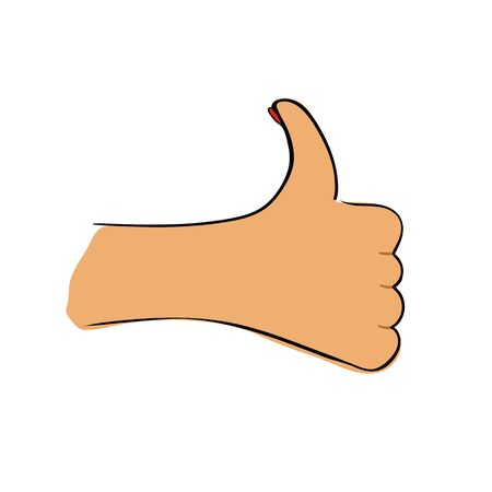 Womans hand icon like on white background Vector illustration  イラスト・ベクター素材