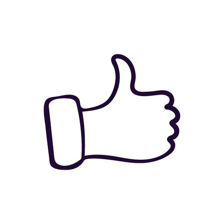 Like icon. Hand like. Thumb up Vector illustration 写真素材 - 136746422
