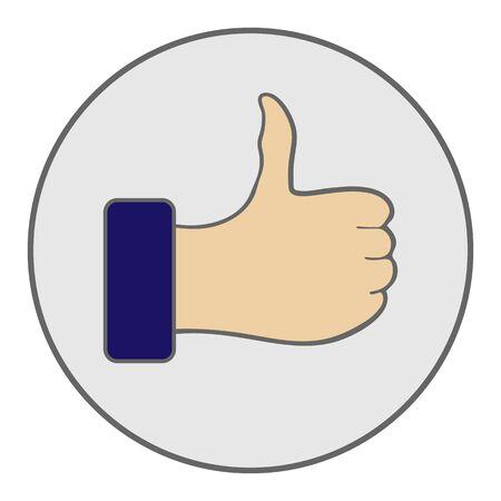 Like icon. Hand like. Thumb up Vector illustration  イラスト・ベクター素材
