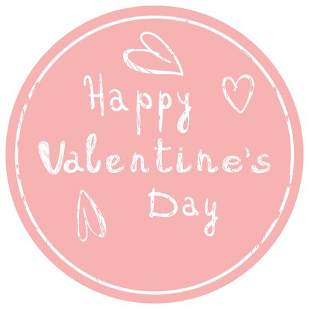 Valentines day icon on pink background Vector illustration 写真素材 - 136746464
