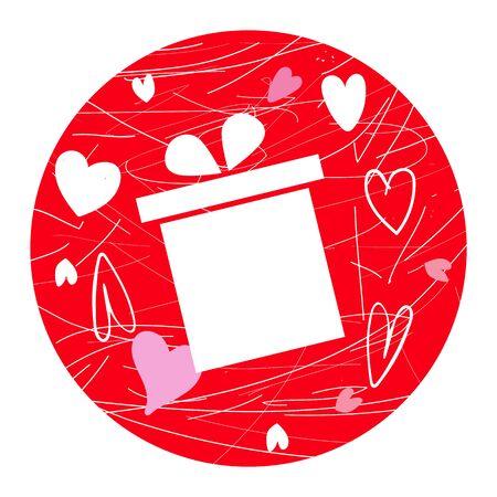 Valentine gift box icon vector illustration EPS10  イラスト・ベクター素材