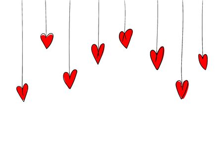Set of hearts on white background 写真素材
