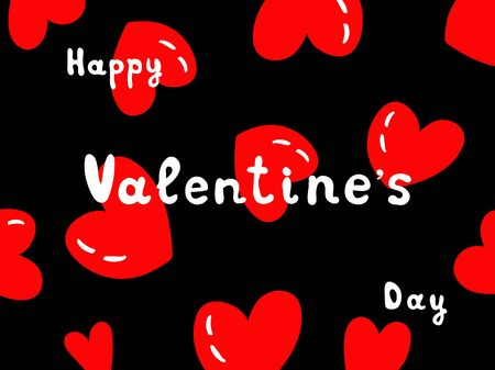 Valentines day with hearts on black background. Eps10