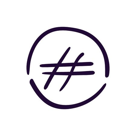 Hashtag sign icon vector illustration on white background. Eps10  イラスト・ベクター素材