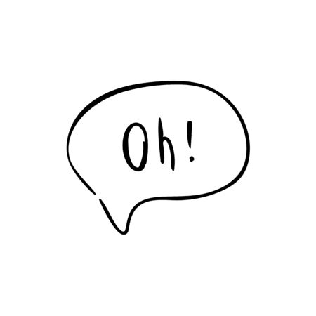 Speech bubble with text. Dialog text on white background  イラスト・ベクター素材