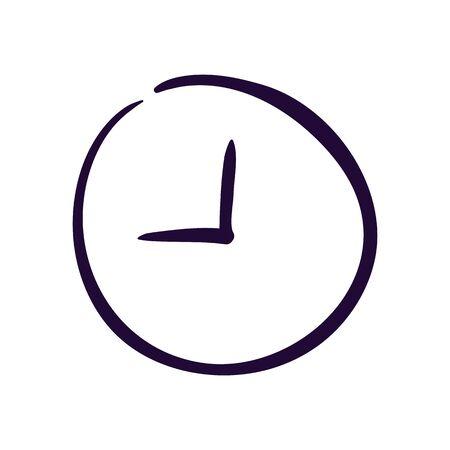 Clock icon vector illustration on white background. Eps10