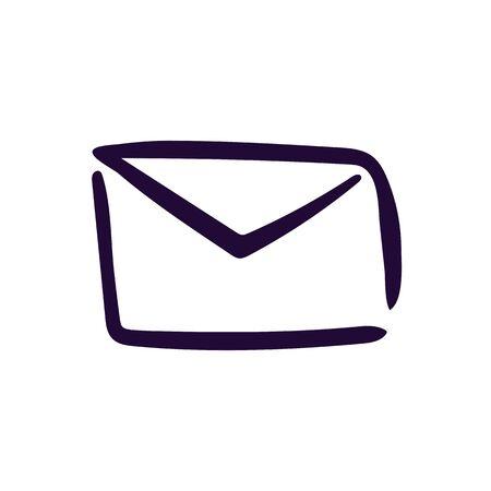 Simple envelope icon vector illustration on white background